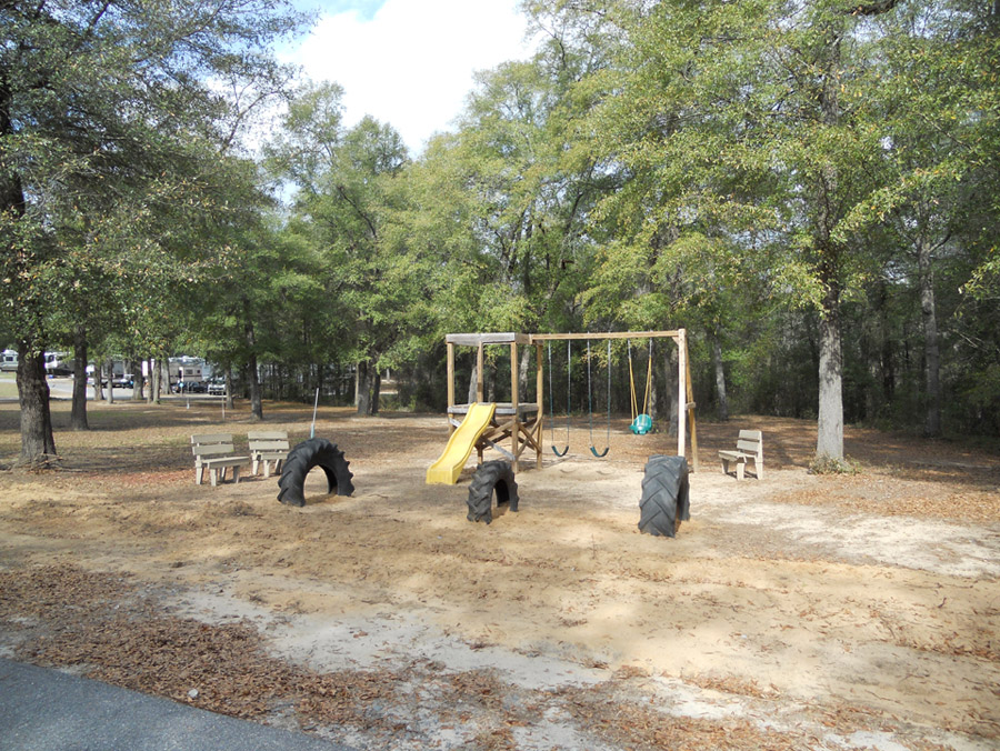 Playground at Fair Harbor RV Park and Campground