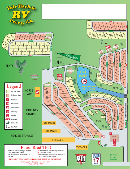 Fair Harbor Campground Map