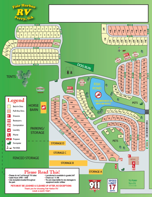 Campground Map image November 2017