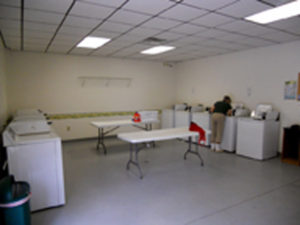 Large laundry at Fair Harbor RV Park and Campground