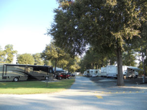 Easy access to campsites at Fair Harbor RV Park and Campground