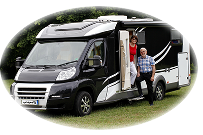 Couple in motorhome
