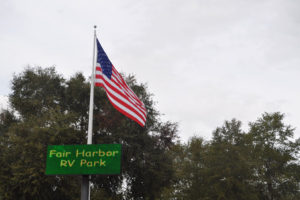 American Flag at Fair Harbor RV Park and Campground